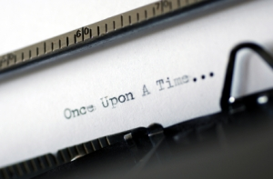 "Typewriter spelling the words ""Once upon a time"""