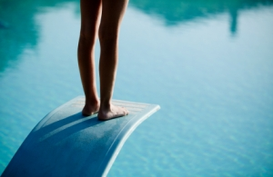 Image purchase from iStockPhoto.com - Girl on a diving board