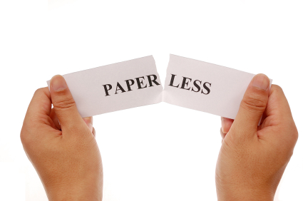 what does having a paperless office Nobody expects the paperless office to be paper free the form  do we have  any idea how we can get rid of all of those files we pay to have stored off site.