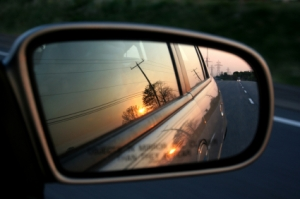 looking back, rearview